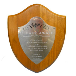 Library Award Plaque