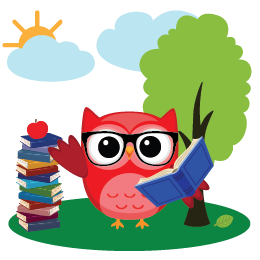 Whooo's reading readathon image with owl and books