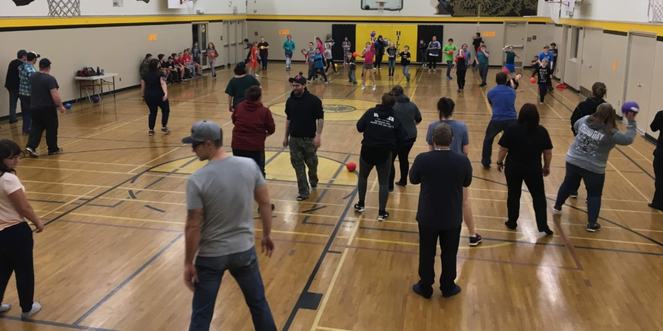 Div. 2 Parents vs Students Dodgeball – See slideshow in Photo Galleries