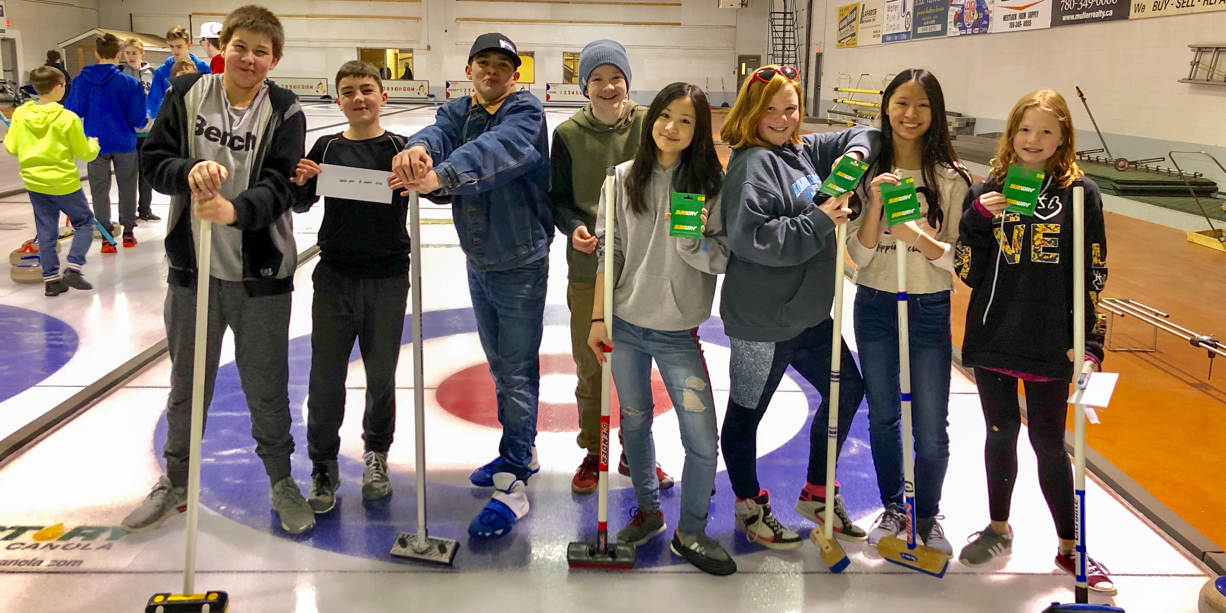 Team Xu Takes 1st; Team Humber Takes 2nd at March 18 Curling Bonspiel in Westlock