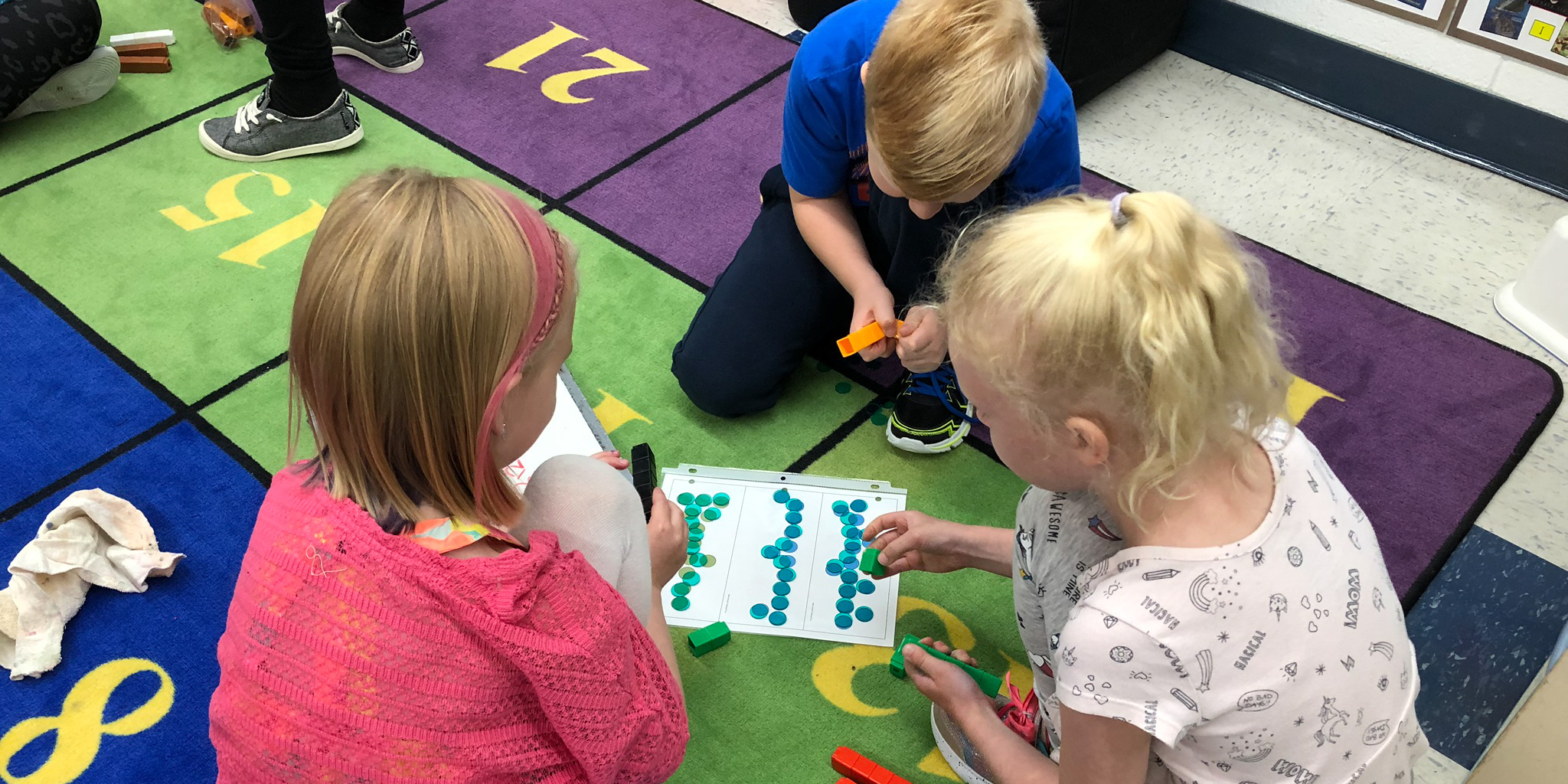 Grade 3 students learn some math