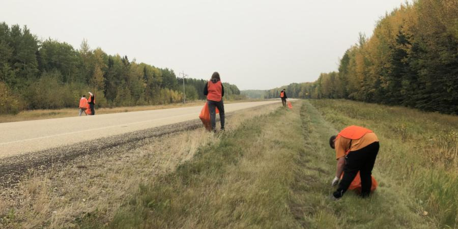 56 students participated in the highway cleanup on September 19th