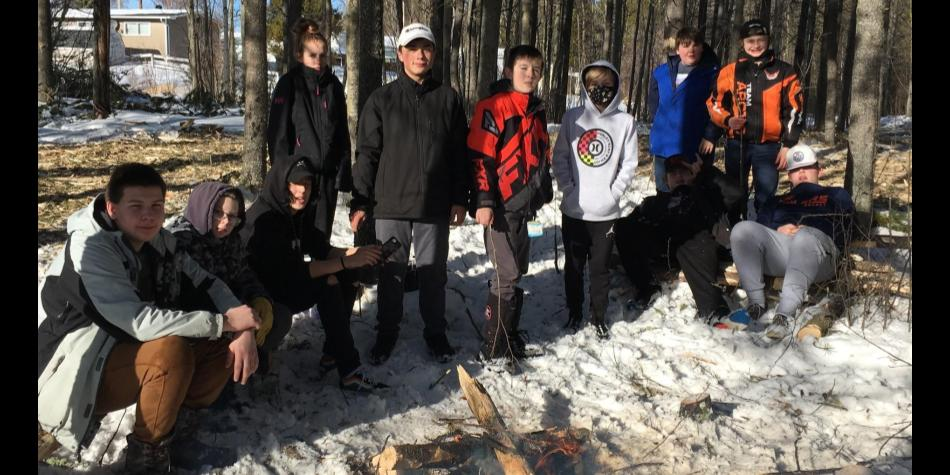 Outdoor Ed Students Make Maple Syrup Taffy